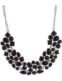 Shining Diva Fashion Black Metal Choker Necklace for Women(Black)(8096np)