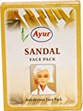 4 X Ayur Sandal Face Pack Natural Glow Skin Anti Aging Great for Oily Skin Reducing Pimples 25g X 4 Pack = 100gm