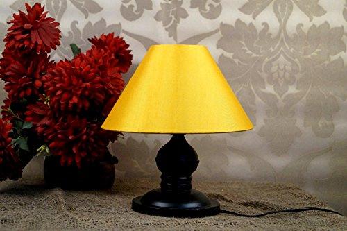 Tucasa LG-196 Conical Shade Table Lamp (Yellow)