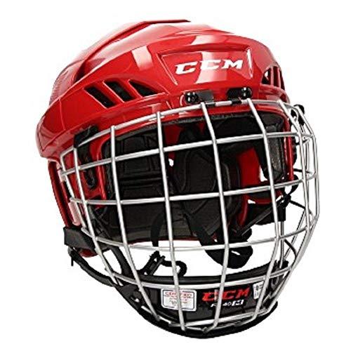CCM Fitlite 40 Helm Combo Senior, Größe:M;Farbe:rot
