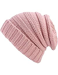 Kangcheng Mujer Hombre Beanie Slouch Skull Knitted Sweater Hat Cap 45e634f1457
