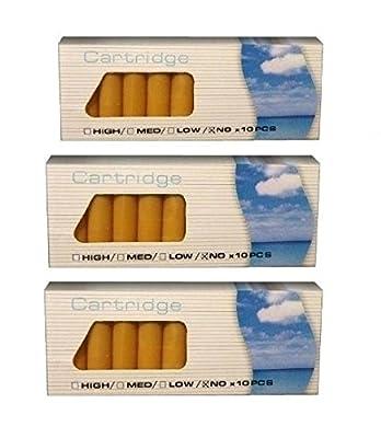 """3er Sparpack = 3 x 10 Aromakapseln : MENTHOL oder MINT (Variationenset) für Ihre E-Zigarette, Clever Smoke, e-health, etc, / E-Liquid Depots / """"Nikotindepots"""" ohne Nikotin von SmokeyB."""