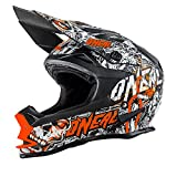 O'Neal 7Series EVO Menace MX Helm Matt Neon Orange Enduro Offroad, 0583M-30, Größe Medium (57-58 cm)
