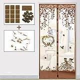JIA-F-U Sommer (magnetische anti - moskito - vorhang), Tür und Fenster - verschlüsselung im schlafzimmer - vorhang semi - permeable Garn-K-100x210cm(39x83inch)
