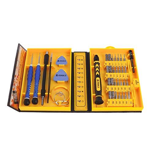 Smartfox Werkzeugbox Schraubendreher Feinmechaniker Reparatur Set 38-teilig für Smartphones PDAs Handys Kameras Modellbau Konsole und andere Geräte Handy Pda Smartphone