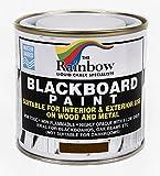 Pintura efecto pizarra, 250ml, para tiza líquida y seca, color marrón