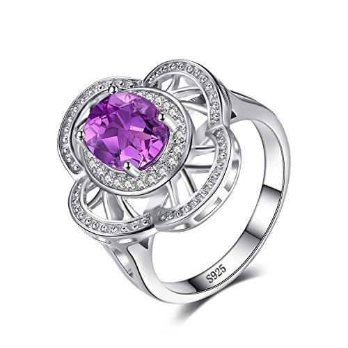 e Flower 2.6ct Erstellt Alexandrit Sapphire Cocktail Ring 925 Sterling Silber ()