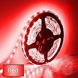 Eksave 5M LED-Streifen 300 Stück SMD 5630 12V Niedervolt-Striplight Nicht-wasserdichte LED-Band rot Red Ribbon Beleuchtung für Home Küchenschrank TV Hintergrundbeleuchtung und vieles mehr