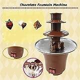 Mini Portable 3-tier Chocolate Fountain Machine Fondue Maker Heated PC Plastic Home Party Fountain EU Plug Regard - 6