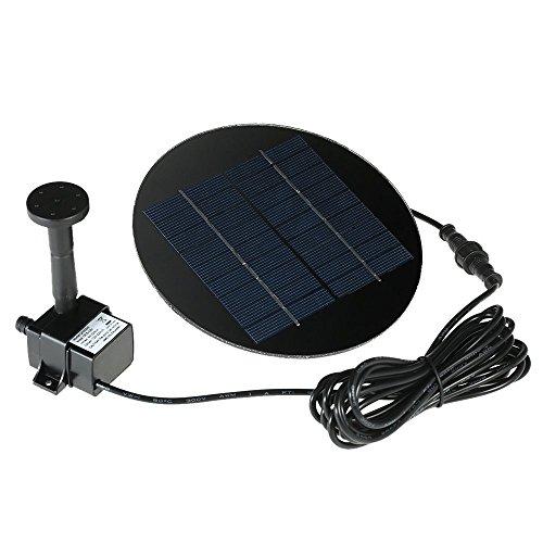 Especificaciones: Color: negro Tipo de Panel solar: Silicio policristalino Solar Panel El Panel solar: 7V / 1.2W; 9V / 1.5W (opcional) Energía de la bomba: 7V / 1.1W (para 1.2W Panel Solar); 9V / 1.4W (para 1.5W Panel Solar) Max. Caudal de bomba: 160...