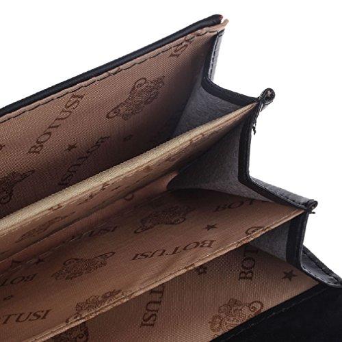 Malloom® Donne Della Signora Frizione Lungo Della Borsa Borse Borsa Cuoio Titolare Della Carta Portafoglio (Rosso) Nero