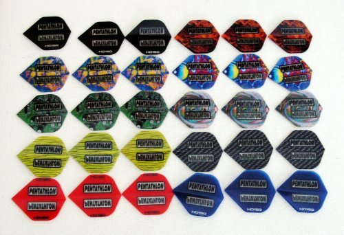 10 Sätze (30 Stück) Pentathlon Flights Polyester Extra strong
