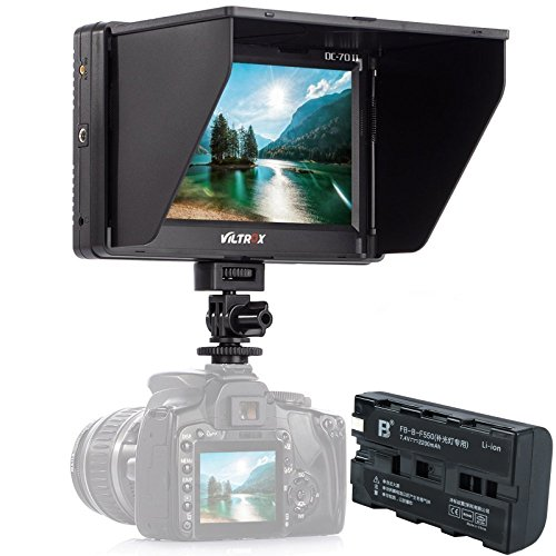 VILTROX DC-70 II 7 Inch HD Support 4K Signal HDMI Input Output Camera Video Field Monitor for DSLR Camera Camcorder with Rechargeable F550 Battery