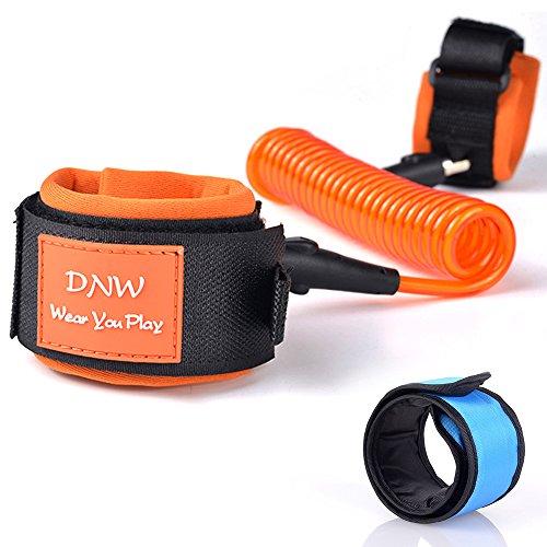 Senhai bambino Anti perso Velcro Belt & braccialetto di schiaffo LED blu, il braccialetto di sicurezza Wristband Guinzaglio per Toddler viaggio Walking