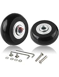cnevison ruedas de equipaje de repuesto, 40 x 18 maleta Scooter Inline Skate Roller rueda