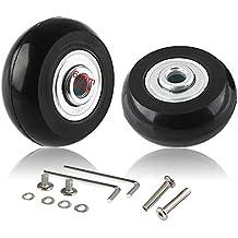 Ruedas de equipaje de repuesto CNEVISON, maleta Scooter Patines en línea Kits de reparación de ruedas de rodillos con rodamientos ABEC 608zz, ejes, ruedas de goma 40x18mm