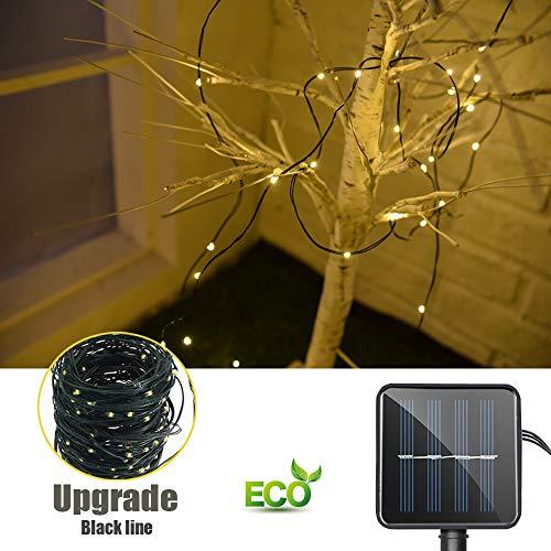 Catena Luminosa Solare, Morbuy Esterno Impermeabile Filo Rame Giardino Luci di Stringa Decorative Ghirlanda Luminosa 8 Modalità per Natale Giardino Balcone Feste Party (7m / 50LED)