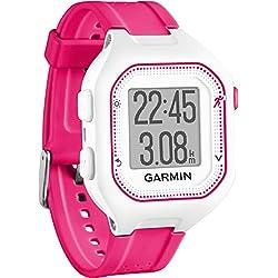 Garmin Forerunner 25 - Reloj Deportivo con Monitor de frecuencia Cardiaca, Color Blanco y Rosa, Talla S - (Reacondicionado Certificado)