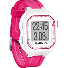 Garmin Forerunner 25 Reloj Deportivo con Monitor de frecuencia Cardiaca Blanco/Rosa, S (Reacondicionado Certificado)