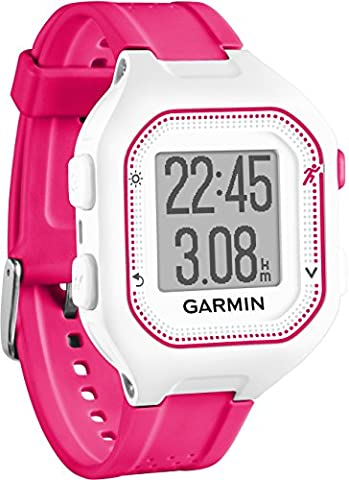 Garmin Forerunner 25 - Montre de Running Connectée - Blanc et Rose (Small)