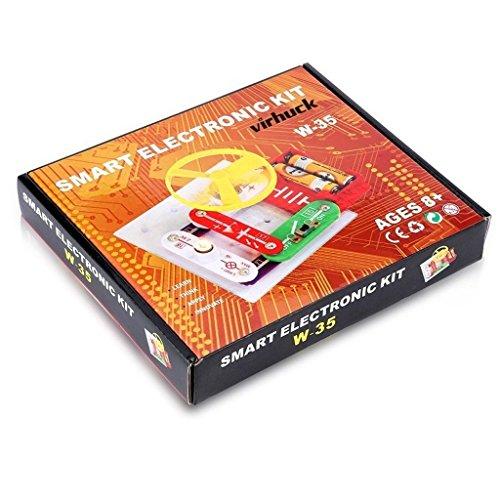 OOFAY W-35 Educational Circuits Elektronik Discovery Kit Snap Komponente Wissenschaft Pädagogisches Spielzeug Für Kinder (Kit Snap Elektronik)