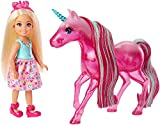 Barbie Mini-Muñeca Chelsea y su Unicornio, Multicolor (FPL82)