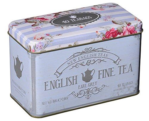 Nouveau Thés anglais Thésors de dégustation English Fine Tea 40 Earl Grey Sachets de thé 80 g