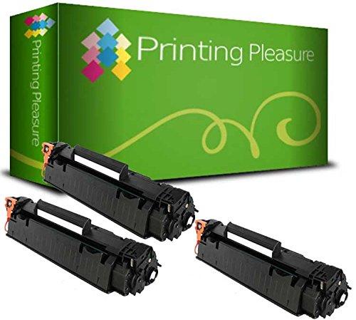 Printing Pleasure 3 Toner kompatibel für HP Laserjet M1536 M1536 DNF P1560 P1566 P1600 P1606 P1606 DN Canon LBP-6200D LBP-6200DW LBP-6230D LBP-6230DW | CE278A 78A CRG-726 3483B002 -