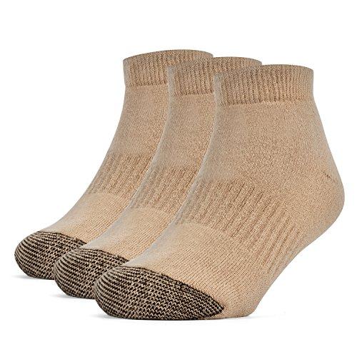 Galiva Jungen Socken, Sneakersocken, gepolsterte extra weiche, Low cut Baumwollsocken - 3 Paar, Mittelgroß, Beige - Extra Low Cut Socken