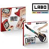 IDESION Kit Nintendo Labo Kit de Variété Bricolaje DIY Support et Guitare en Carton pour Nintendo Switch