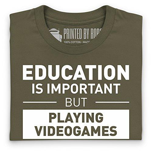 Playing Videogames T-Shirt, Damen Olivgrn