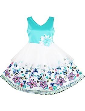 Sunny Fashion - Vestito floreale, bambina, blu