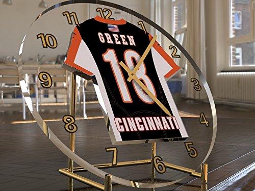 NFL American Football Jersey Desktop-Uhr–AFC North, kostenlose Personalisierung., CINCINNATI BENGALS