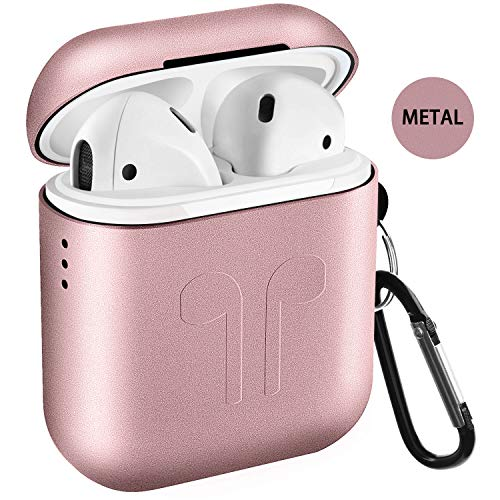 Airpods Case, Qcoqce Funda Airpods Metal, Ligero Impermeable