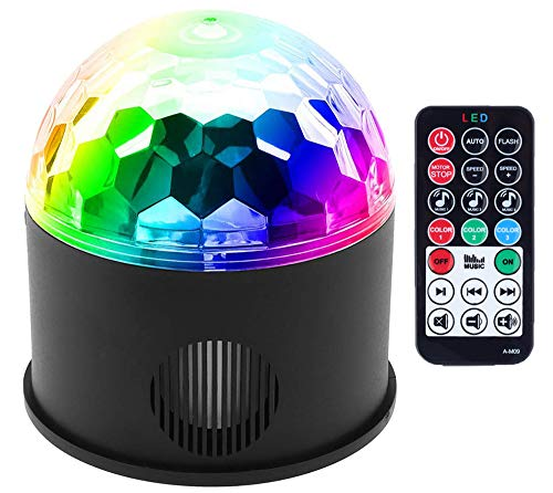LED Partylichter Bühne Lichter Disco Ball Lichter Bluetooth Party Lichter Bühne Lichter Disco Ball Lichter DJ Lights Strobe Lights Anzug für Hochzeitsgesellschaft KTV Club Pub Show Nachtclub Bar (Halloween-songs Einfach Super)