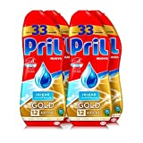 Pril Gold Gel lavastoviglie Igiene, Detersivo lavastoviglie con bicarbonato,  132 lavaggi, 4 x 600 ml
