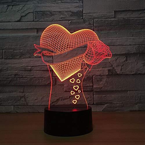 JYHW 3d led nachtlicht modell 7 farben usb led lava lampe berührungsempfindliche illusion nachtlichter urlaub wohnkultur geschenk fernbedienung