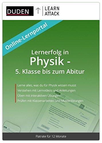 Duden Learnattack - Lernerfolg in Physik - 5. Klasse bis zum Abitur (12 Monate Flatrate)