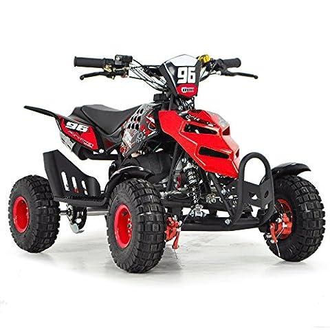 FunBikes Kids Mini Quad Bike 49cc 50cc Petrol Quad - Ride On ATV Midi (Red)