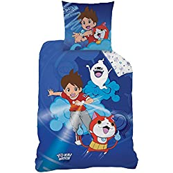 Yo di Kai Watch 044788Gang Renforce Biancheria da letto, Cotone, blu, 135x 200cm