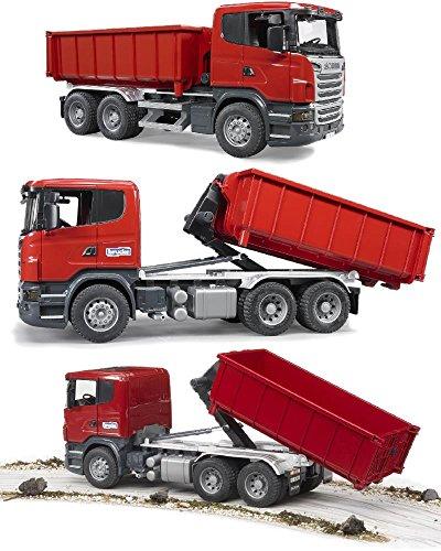 Modellini Bruder Scania Camion Container Ribaltabile usato  Spedito ovunque in Italia