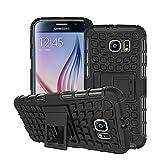 Etui Combo Case Samsung Galaxy S6 noir 16/32/64 Go (3G/Wifi/4G/LTE) avec stand - Housse cover Spider coque de protection Silicone avec stand Samsung Galaxy S6 - Prix découverte accessoires pochette XEPTIO case !