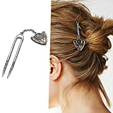 #10: Ziory Vintage Golden Color Hair Combs Hair Pin Geometric Hair Sticks Hairwear for Girls and Women (Juda Pin)