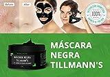 Tillmann's Mascarilla Negra 120 gramos - Mascarilla Negra Para Puntos Negros - Black Mask Exfoliante Facial de Carbón Activado de Bambú - Elimina Puntos Negros y Espinillas, Exfoliante Peel Off