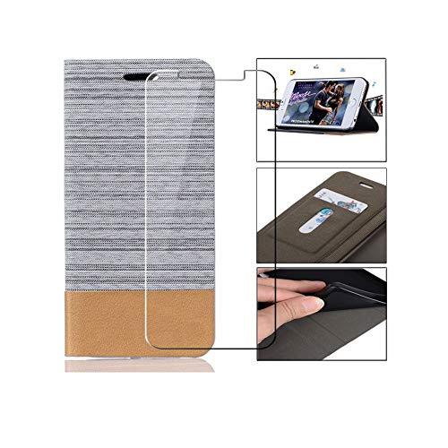 PZEMIN Etui für Wileyfox Swift 2 X Hülle Flip Lederhülle Ledertasche Leder Schale TPU Case Cover Schutz + 1x Panzerglas Schutzfolie für Wileyfox Swift 2 X Bildschirmschutzfolie (5.2