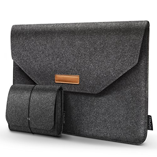 HOMIEE - Laptoptasche mit extra Aufbewahrungstasche und Pad, Filz Tablet Aktentasche mit Taschen für Laptops MacBook Pro, MacBook Air, Notebooks, Netbooks, Ultrabooks, stoßfest