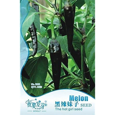 100pcs 6 colore misto giallo Puple Rosso Verde Blu Bianco Professional Service Pack Sweet bell Hot Pepper Seeds verdure Paprika, # LJ004