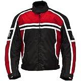 Römer Blouson Moto Washington, Noir/Rouge/Blanc, XXXL