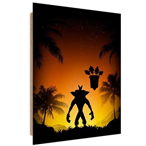 Feeby. Wandbilder - 1 Teilig- 50x70 cm - Bilder Kunstdrucke Deko Panel, Protector of The Island - DDJVigo, Anime, Spiel, Schwarz - Panel Protector