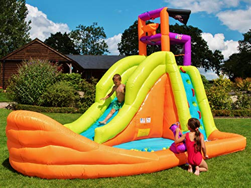 BeBoP Pirate Boat Inflatable Bouncy Water Slide for Kids